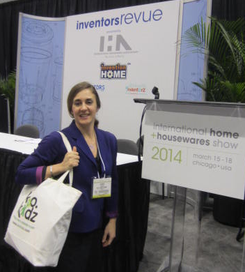 Preparing for our debut, eco-friendly product launch, k.o. kidz Founder, Karen Orlich, attends Chicago's acclaimed Home + Housewares Show