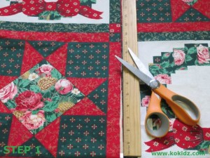 HOW-TO-MAKE-FABRIC-GIFT-BAGS-AND-WRAP-no-sewing-necessary Cut-fabric-length-STEP1