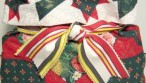 HOW-TO-MAKE-FABRIC-GIFT-BAGS-AND-WRAP-no-sewing-necessary Finished-bag-bow-option1