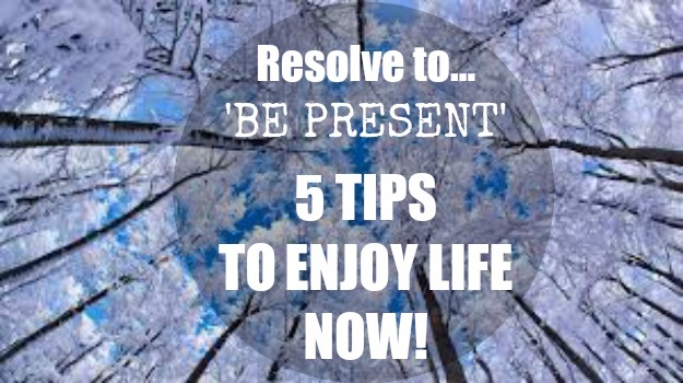 RESOLVE TO 'BE PRESENT' THIS YEAR - 5 TIPS TO BE MORE MINDFUL & ENJOY NOW|ko-kidz|winter-landscape-forest-sky-be-present
